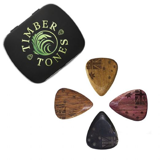 Flag Tones Southern Cross Mixed Tin of 4 Guitar Picks